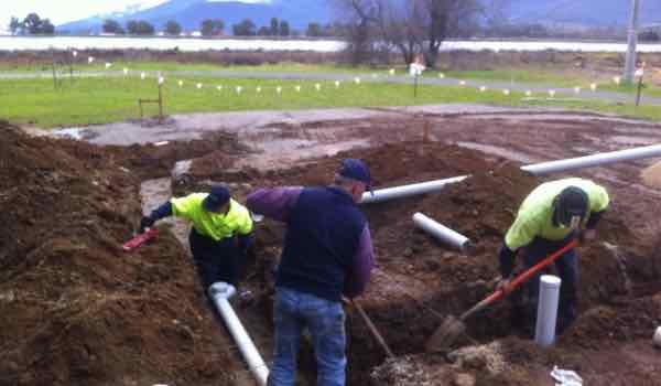 Plumbing trench work
