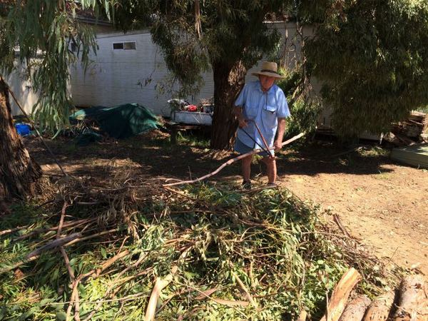 Herb Ougham cleaning up after the Jan '16 storm