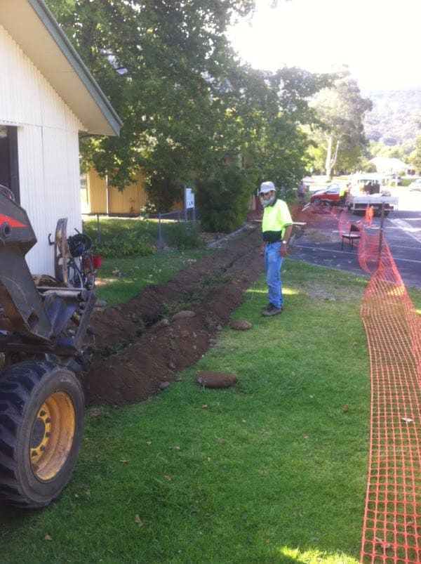 Ian Howley (project manager)-Trenching the Telstra Cable