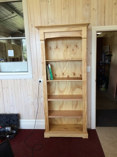 Finished bookcase - looks good